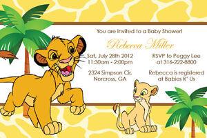 Image Is Loading Lion King Simba Custom Baby Shower Boy Girl
