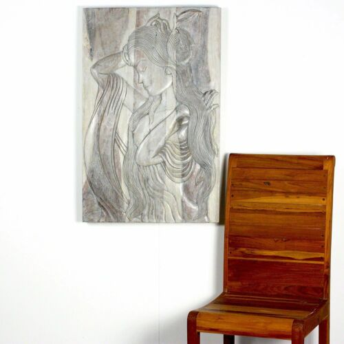 Haussmann® Wood Phuying Woman 24 x 36 in H Agate Grey
