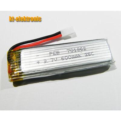600mAh 25C Lipo-Akku LxBxH = 66 x 18 x 8,3 mm / 3,7V 1S 701862 Heli Drohne Quad