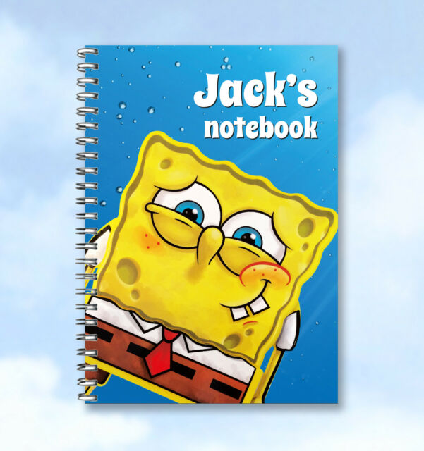 Personalised Notebook SpongeBob SquarePants  -  ADD ANY TEXT AND NAME