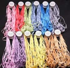 New 132yards 4MM 100% PURE SILK EMBROIDERY RIBBON BRAZILIAN EMBROIDERY