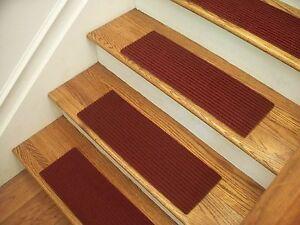 Image is loading Premium-Carpet-Stair-Tread-Sets-Rugged-Wine-30-