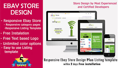Ebay Store Design Plus Listing Template 2019 Ebay Policy Complaint Free Install Ebay