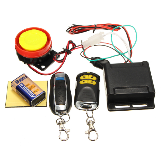 F FIERCE CYCLE 1 Set Motorcycle Scooter Bike Alarm System Engine Start Anti-Theft Security Remote Control with Connection Cable Battery 315MHz