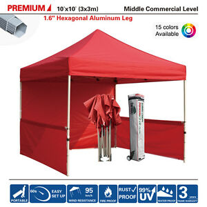 Image is loading 10x10-Commercial-Easy-Pop-Up-Canopy-Tent-Market-  sc 1 st  eBay : 10x10 commercial canopy - memphite.com