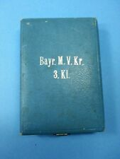Militärverdienstkreuz 3. clase Baviera, mvk en estuche WK I