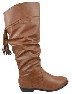 Soda Women Flat Slouch Basic Knee High