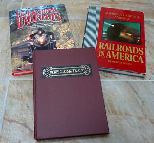 3-Railroad-Assorted-Historical-Hard-Cover-Books-In-Very-Good-Condition
