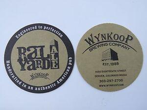 """2 Bière Barre Dessous De Verre ~ ~ Wynkoop Brewing Rail Coudée Ale """" Conçu à """" Orfbf9at-07223216-488744424"""