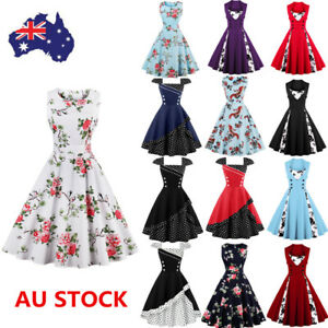 16-Style-Women-50s-Vintage-Rockabilly-Floral-Swing-Dress-Cocktail-Party-Dress