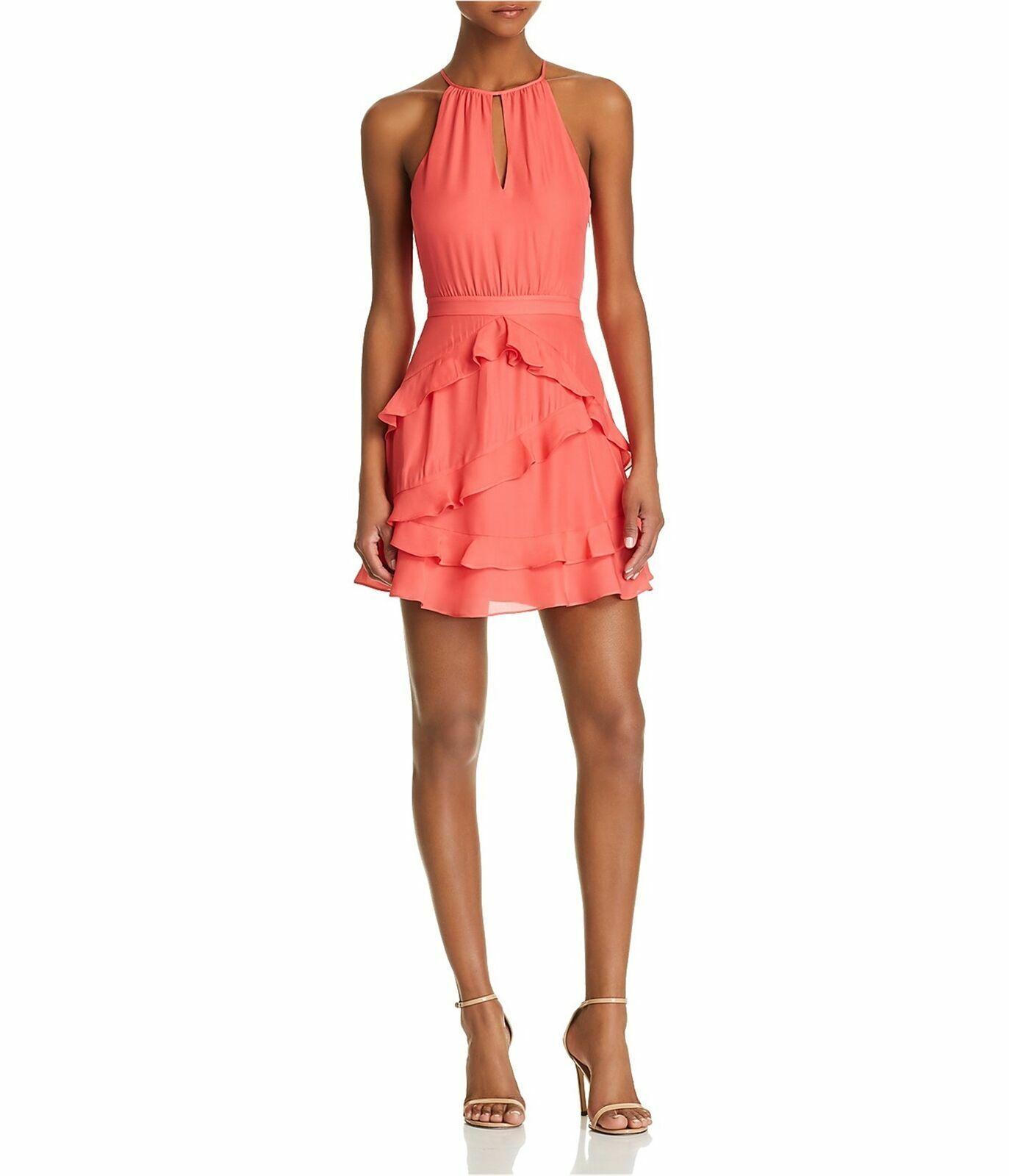 Parker Pixie Ruffle-Trim Dress MSRP  Größe 4 A 882 NEW