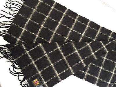 100 % Wolle Schal Schwarz Weiß 27x155 Cm Wie Neu Modischer (In) Stil;