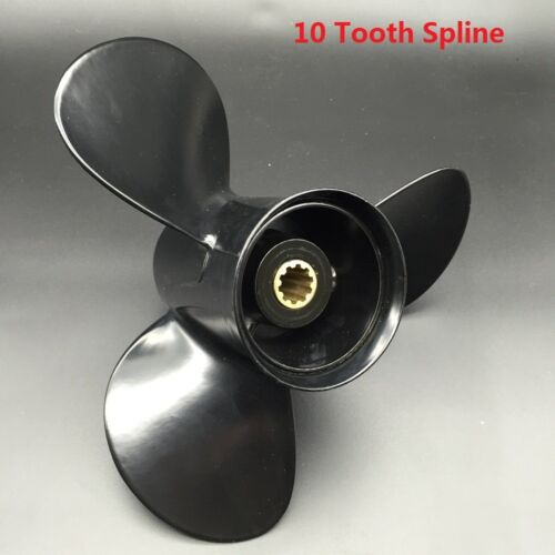 Propeller For Honda Outboard 10 Tooth Spline DIA 9 7//8 X 13 P Marine Boat