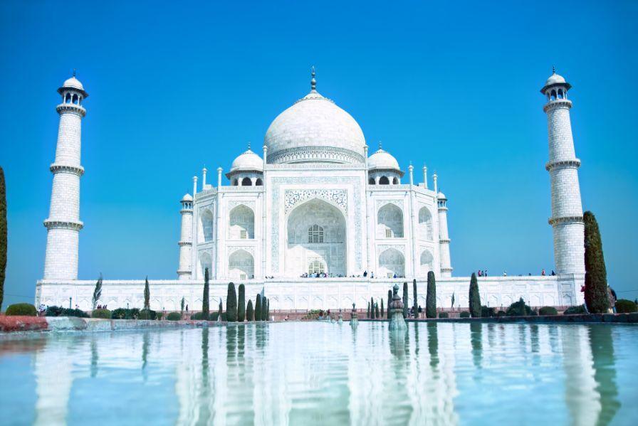 3D Beau Taj Mahal 7 Photo Papier Peint en Autocollant Murale Plafond Chambre Art