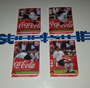 Panini-WM-2010-Klose-Salto-komplett-Coca-Cola-Torjubel-Sticker-WC-10-1-bis-4