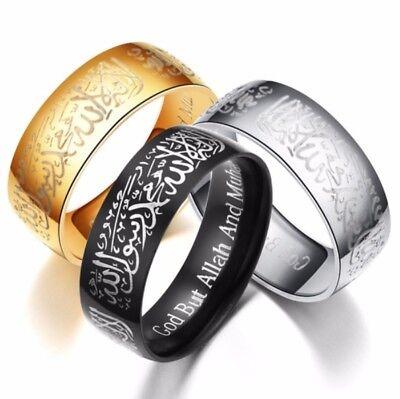 Arabe Muslimisches Anneau Coran Coran Kalimah Shahada Schahada Argent