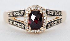 Le Vian Raspberry Rhodolite Garnet Ring 1/3 CTW Chocolate Diamonds 14K Rose Gold