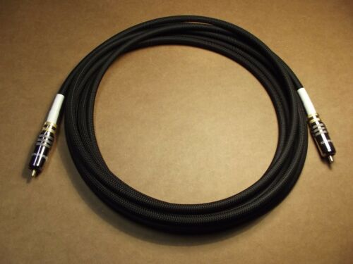 AUDIOPHILE SUB-BLIME SERIES RCA SUB-WOOFER CABLES BY LASPADA CABLES 18 FT.