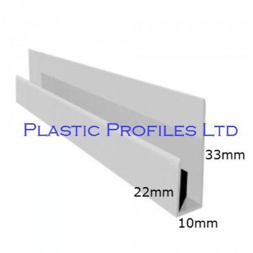 PLASTIC UPVC PVC SOFFIT CLADDING START EDGE J TRIM U CHANNEL 5 METERS 2 X 2.5