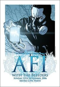 AFI-THE-BLEEDERS-PERTH-2006-CONCERT-POSTER-ART-JOE-WHYTE
