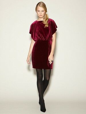 Jessica Simpson Burgundy Velvet Open Sleeve and Back Mini Holiday Dress NWT