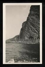 1926-1940 RPPC Picturesque Cliffs on Gaspe Highway, Quebec, Canada