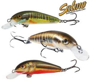 Perch Pike Lure Plug Salmo Minnow Sinking Crankbait 6 /& 7cm