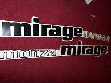 1977 CHEVROLET MONZA MIRAGE DOOR DECALS SET PAIR NEW LEFT RIGHT SET OBSOLETE