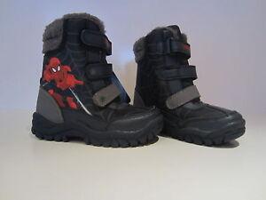 Marvel-Spiderman-Botas-Nieve-Talla-24-GB-7-Ninos-de-invierno-Nuevo