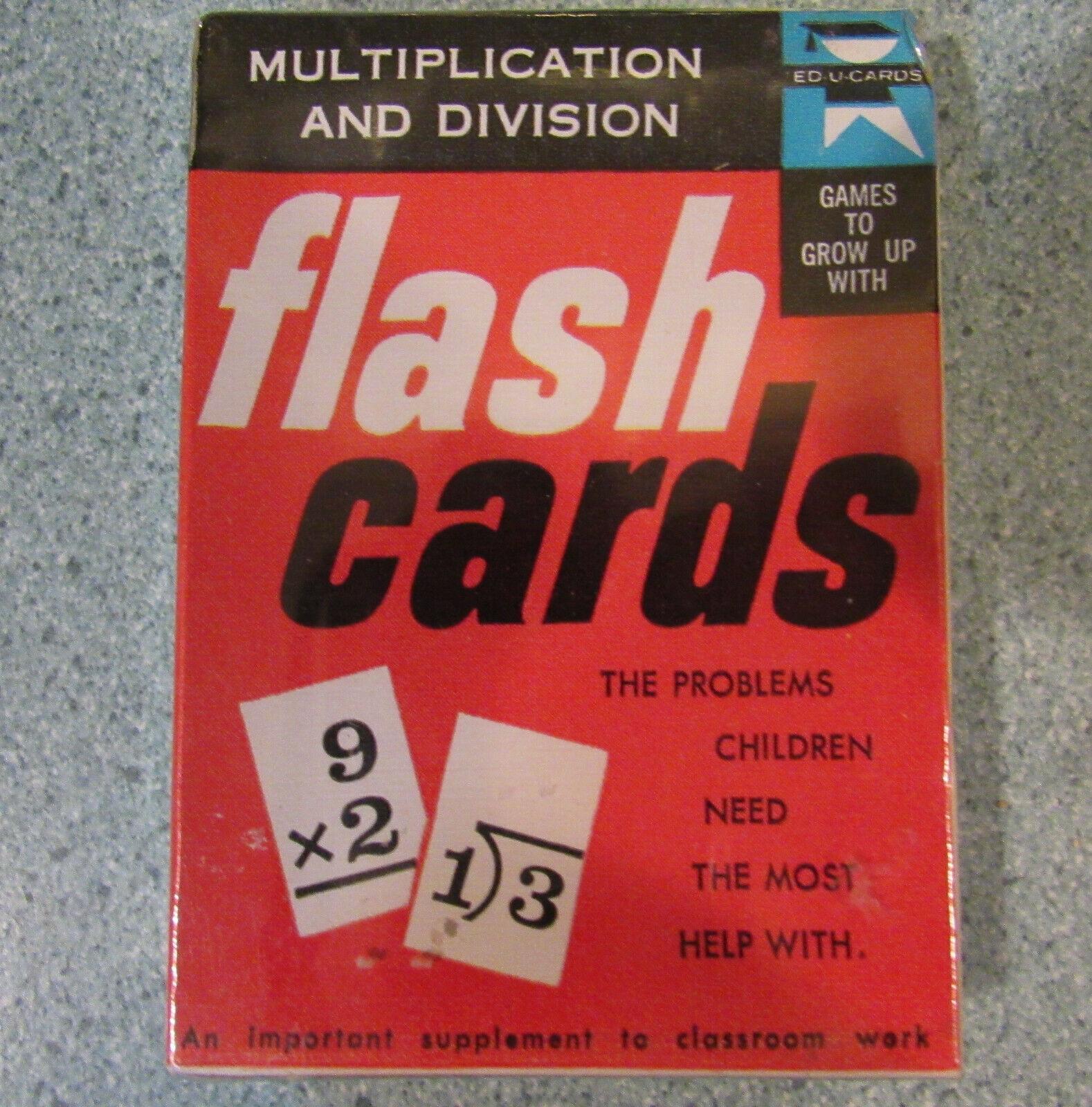 Juguete Vintage 1960 Tarjetas de u Ed Tarjetas Flash multiplicación de división de plástico original