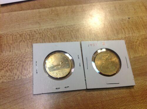 1987 $1 Loon Canada Dollar 1 coin