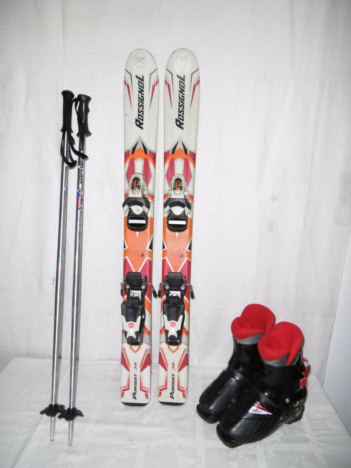 BLIZZARD  FORCE  SKI JUNIOR ALLROUND CARVER 100 CM 33 IM SET SKISCHUHE GR.