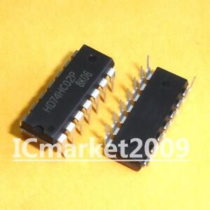 74HC02 DIP 14 Quad 2-input NOR gate 74 Series IC 74HC 5pcs
