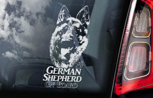 Alsatian Dog Window Sign GSD Bumper Decal Gift GERMAN SHEPHERD Car Sticker V11