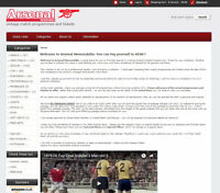 ARSENAL memorabila website Business with £2,000 stock, free web hosting & extras