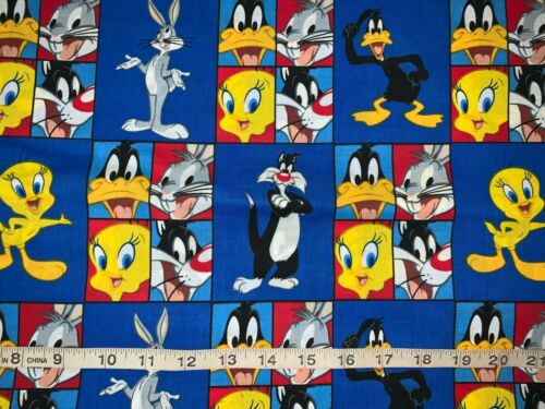 Fat Quarter NEW Discontinue Looney Tunes Patchworks 100/% Cotton Sold By FQ