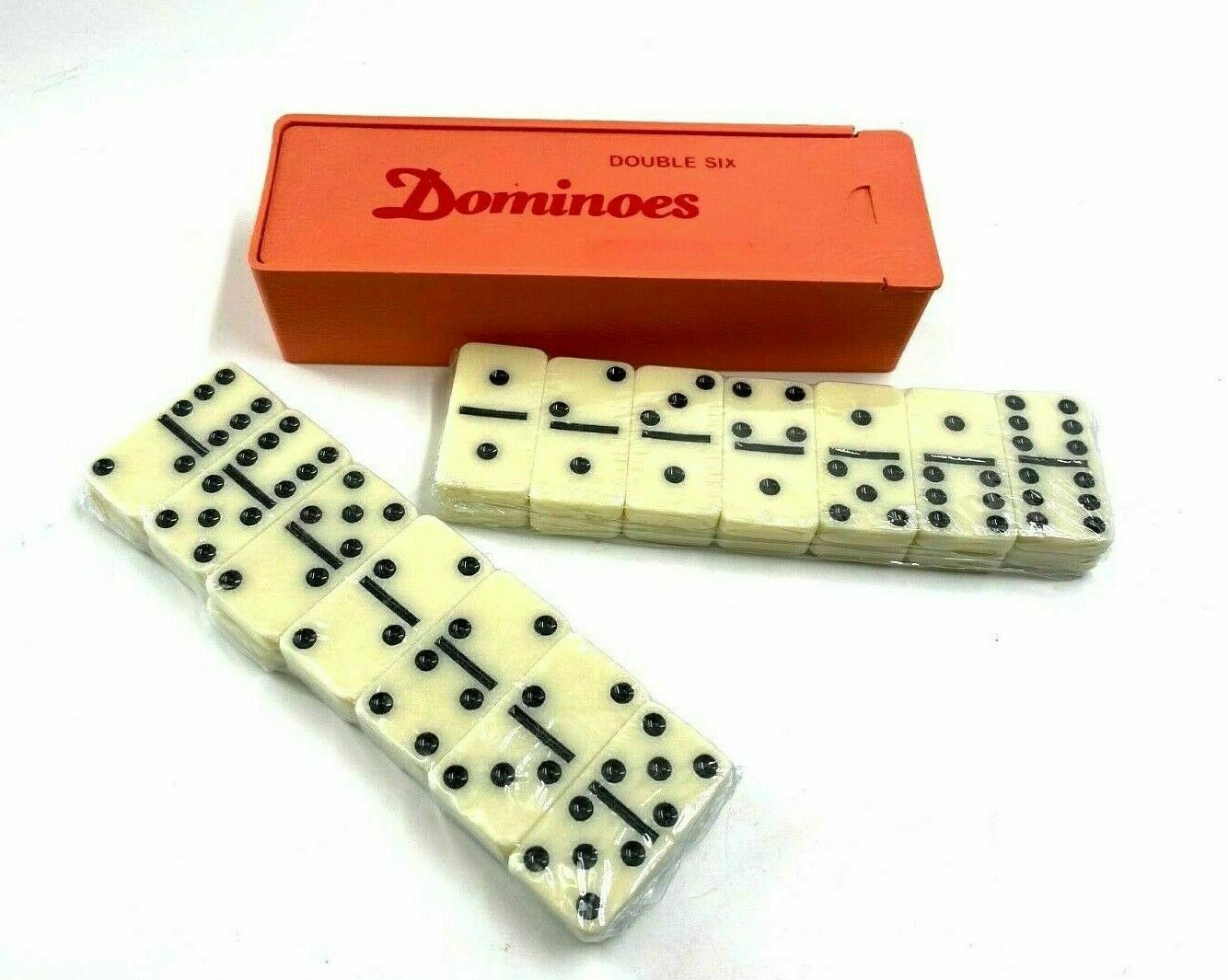 Premium Classic 28 Pieces Double Six Domino in Durable PVC Box for Kids Boys Duoble 6 Dominoes Party Favors and Anytime Use Dominos Set Game 2-4 Players Mexican Train//Chicken Foot//juego Girls
