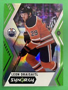 2017-18 Upper Deck Synergy Green #14 Leon Draisaitl Edmonton Oilers Parallel