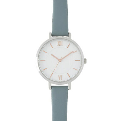 NEW Trent Nathan A160164-A2-1 Female Leather Band Watch Blue