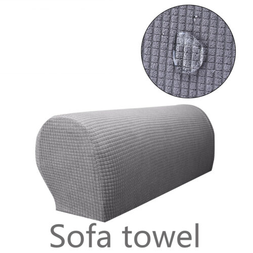 1Pair Removable Arm Chair Protector Armchair Covers For Armrest Stretch Sofa UK