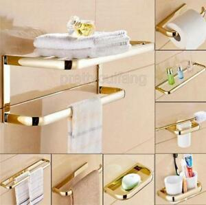 Image Is Loading Gold Brass Bathroom Accessories Set Towel Rack Towel
