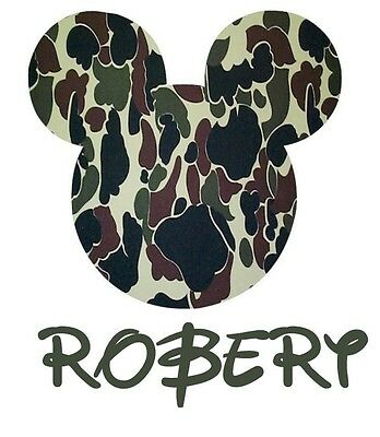 ***** GREAT DISNEY ARMY MICKEY MOUSE PERSONALIZED T-SHIRT IRON ON TRANSFER