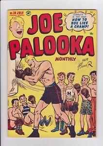 Joe-Palooka-34-July-1949-Harvey-Comics-034-How-To-Box-034-Youth-Boxing-cover-FN