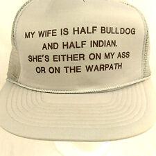 Wife Bulldog Indian Ass Warpatch Trucker Hat Baseball Cap Mesh Snapback