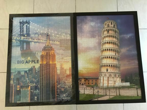 Framed Puzzle 1000 PCS Pisa Tower and Newyork tower (71 x 42 ) cm each frame