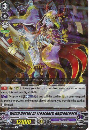 Negrobreach Cardfight V: Witch Doctor of Treachery V-EB02//023EN R Rare Card