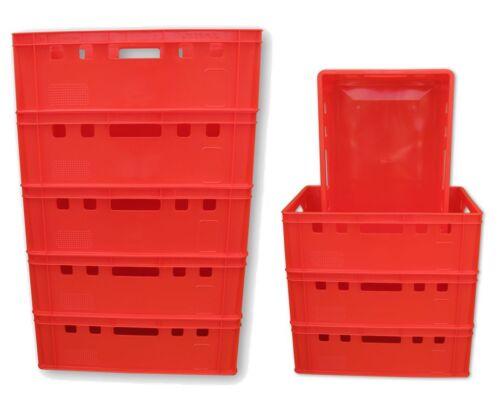 9 x Eurofleischerkiste Vorratsbox E2-Kiste Behälter Gemüsekiste stabelbar NEU.