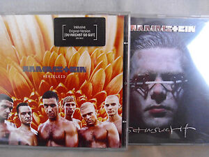 Rammstein-Herzeleid-Sehnsucht-2-CDs-Made-in-UK-by-PDMC