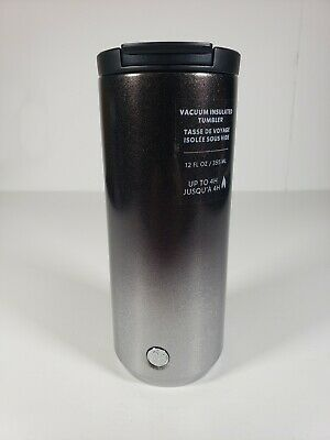 Starbucks Holiday 2019 Grey Silver Glitter Ombre Stainless Steel Tumbler 12oz