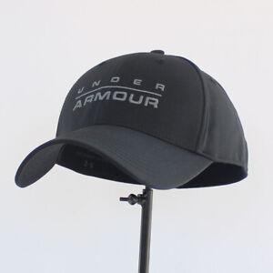 Under Armour UA Wordmark Stretch Classic Fit Cap Baseball Hat Golf ... c08eb5fd5c4